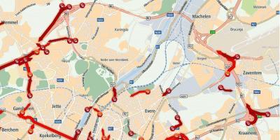 Briuselio žemėlapis - Žemėlapiai, Briuselis (Belgija)